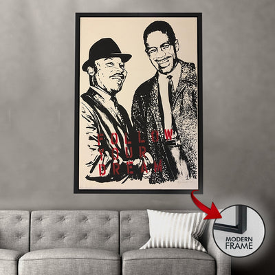 Malcolm X Follow your Dreams - Canvas Insider