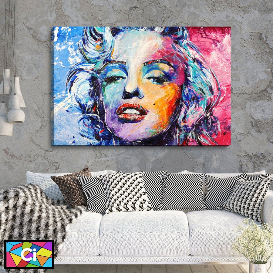 Marilyn Monroe Splash of Colour Canvas Wall Art - Canvas Insider™️