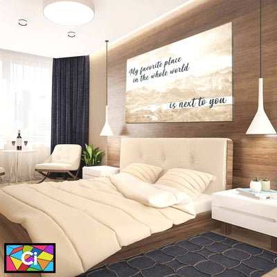 My Favorite Place In The World Canvas Wall Art - Canvas Insider™️
