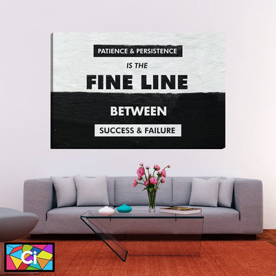 Patience And Persistent Inspiring Message Canvas Wall Art - Canvas Insider™️