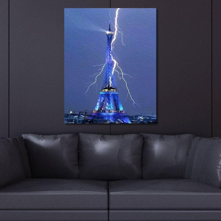 Rare Eiffel Tower Lightning Strike Limited Edition Canvas Art - Canvas Insider™️