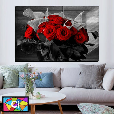 Red & Black Roses Love Canvas Art Decor - Canvas Insider™️