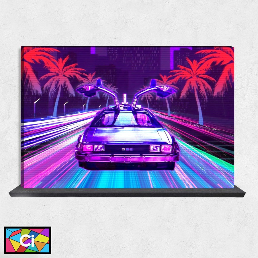 Retro Miami Vibes Animated Picture Canvas Wall Art - Canvas Insider™️