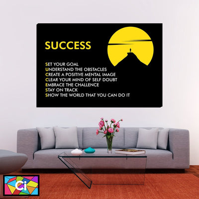 Steps To Success Motivational Canvas Wall Art - Canvas Insider™️