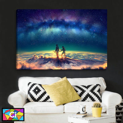 Stroll The Galaxy Canvas Wall Art - Canvas Insider™️