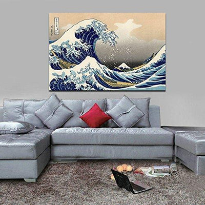 The Great Wave Canvas Wall Art - Canvas Insider™️