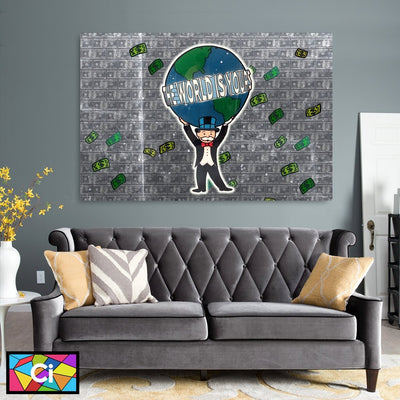 The World Is Yours Monopoly Success Canvas Wall Art - Canvas Insider™️