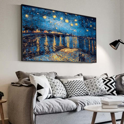 Van Gogh's The Starry Night Painting On Canvas - Canvas Insider™️