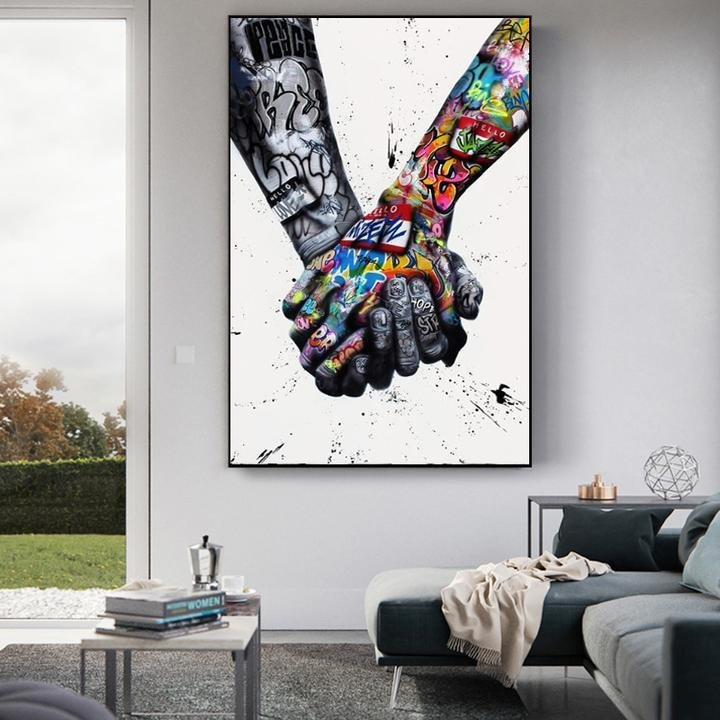 World Unity Graffiti Art (Ready to Hang) - Canvas Insider