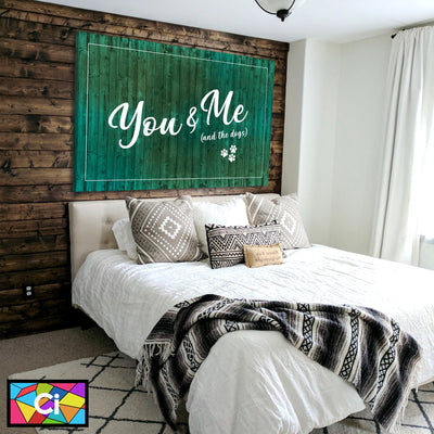 You, Me & The Dogs Canvas Wall Art - Canvas Insider™️