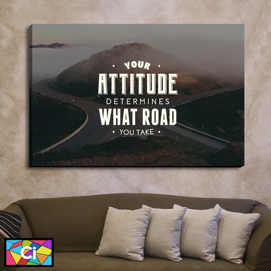 Your Attitude Determines Your Future Inspirational Message Canvas Wall Art - Canvas Insider™️