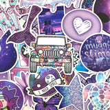 Purple Themed Stickers