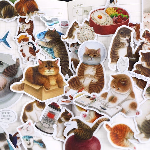 Fat Cat Sticker Pack