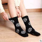 Pentagram Quarter Socks