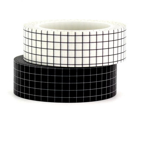 Black & White Grid Washi Tape