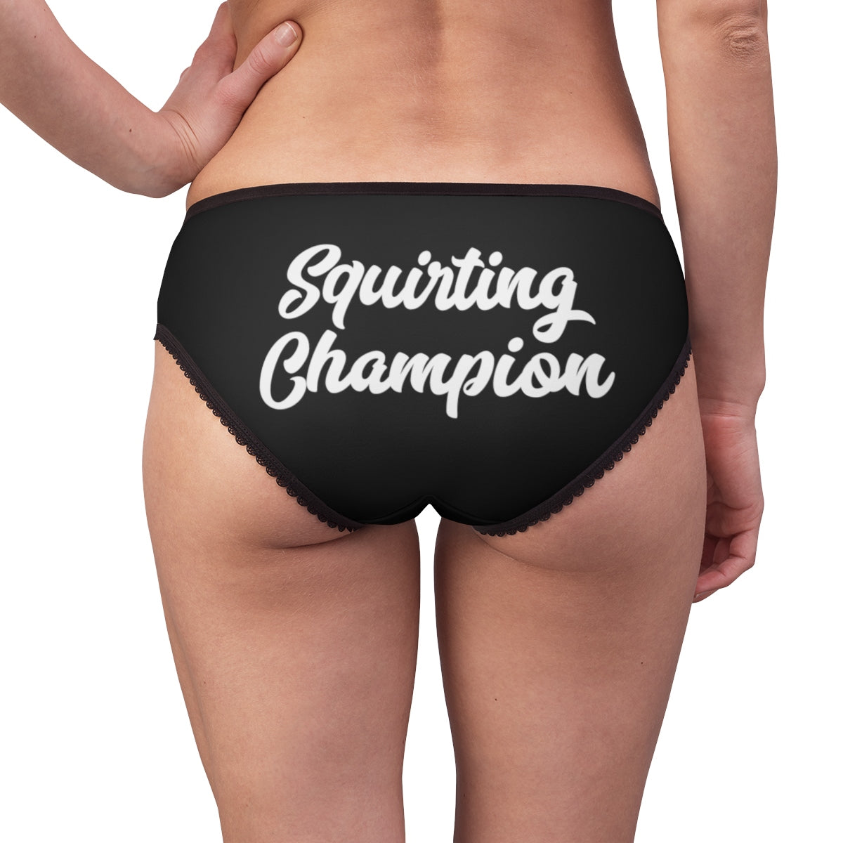 Squirting Champion Fancy Script Watersports Women's Briefs