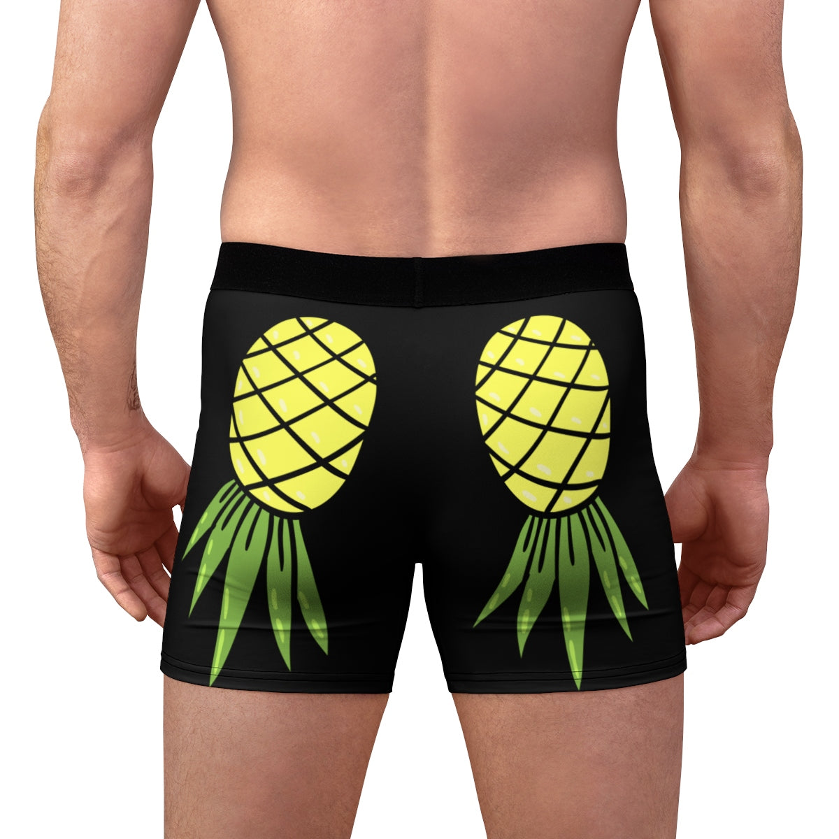Upside Down Pineapple Men's Boxer Briefs