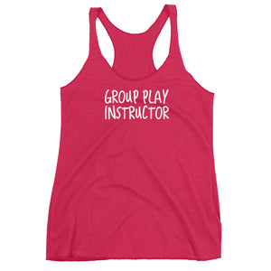 Group Play Instructor Cuckolding Couples Womens Racerback Tank Top