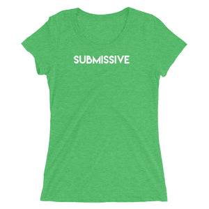Submissive Label BDSM Submission Fun Kink Ladies' short sleeve t-shirt - Cuck and Bull Shop
