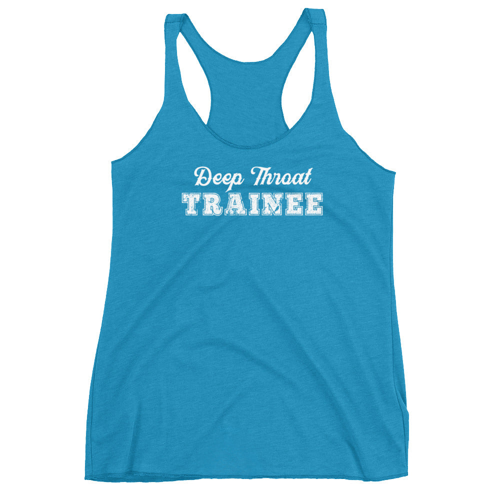 Deep Throat Trainee Cuckolding Couples Womens Racerback Tank Top