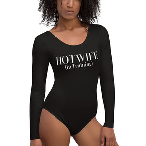 Hotwife (in training) Cuckolding Wife Sharing Swinger Womens Long Sleeved Body Suit