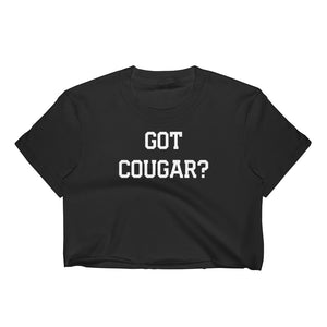 Got Cougar? Cuckolding Couples Womens Short Sleve Cropped Top Shirt