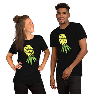 Upside Down Pineapple Matching Swinger Couple Short-Sleeve Unisex T-Shirt - Cuck and Bull Shop