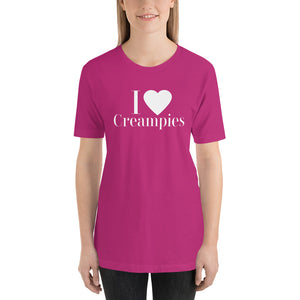 I Love Creampies Hotwife Kink Short-Sleeve Unisex T-Shirt - Cuck and Bull Shop