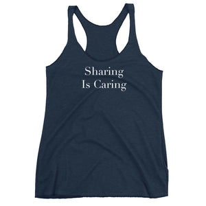Sharing Is Caring Cuckolding Womens Racerback Tank Top