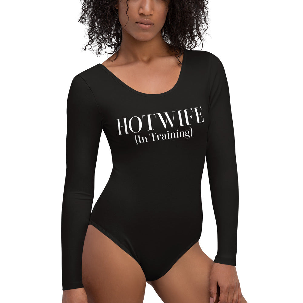 Hotwife in training Cuckolding Couples Womens Long Sleeved Body Suit
