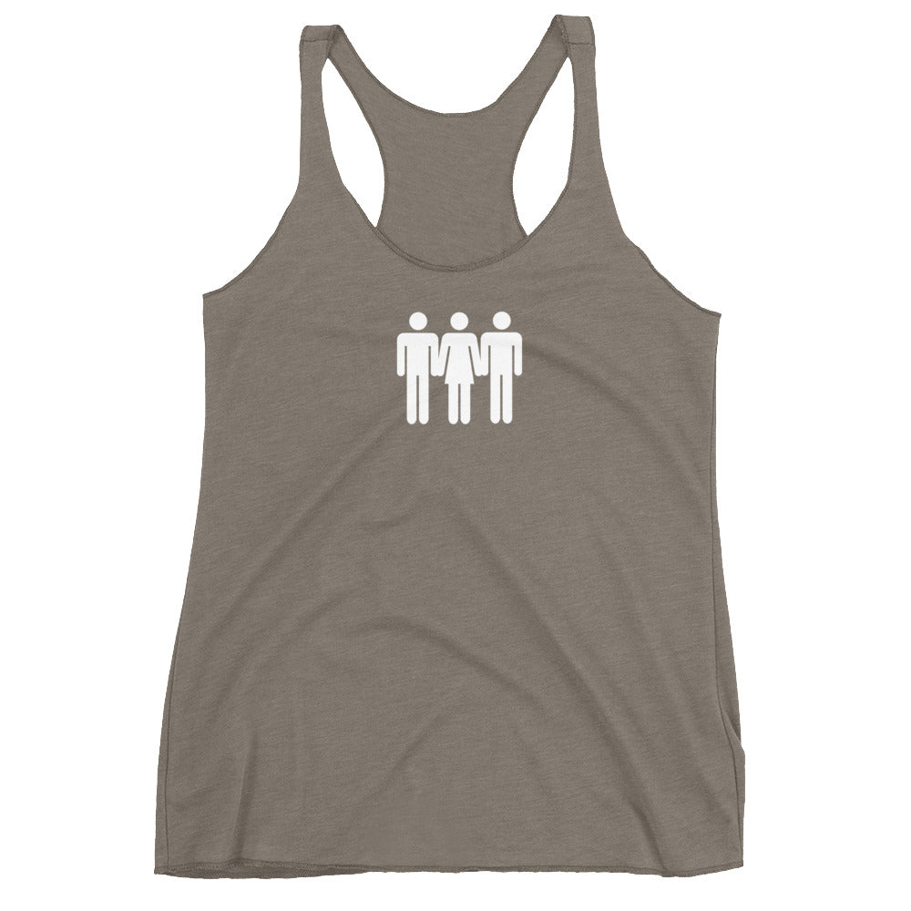 Sharing Is Caring Cuckolding Graphic Womens Racerback Tank Top