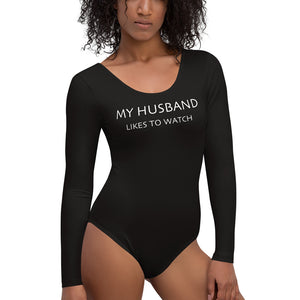My Husband Likes To Watch Cuckolding Womens Womens Long Sleeved Body Suit