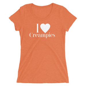 I love Creampies Ladies' short sleeve t-shirt - Cuck and Bull Shop