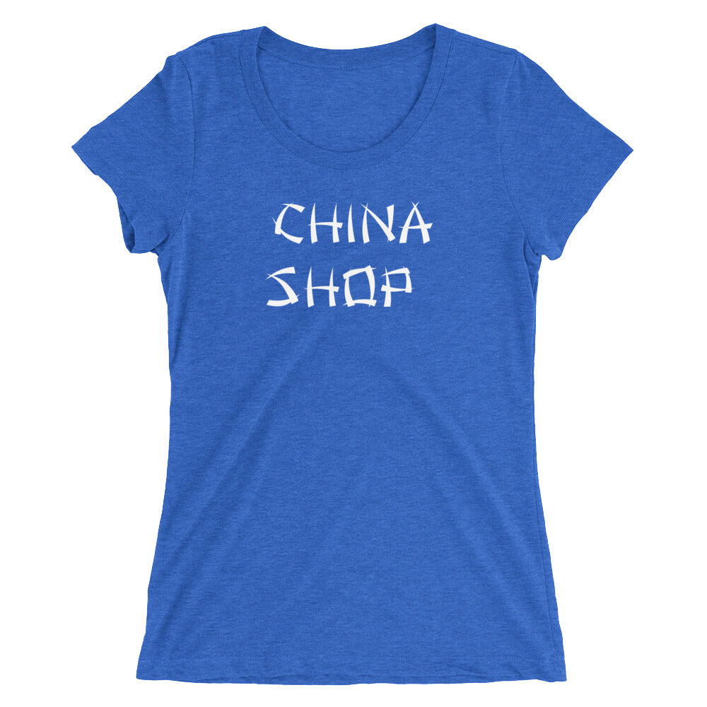 China Shop Queen of Spades Bull in a China Shop Ladies' short sleeve t-shirt - Cuck and Bull Shop