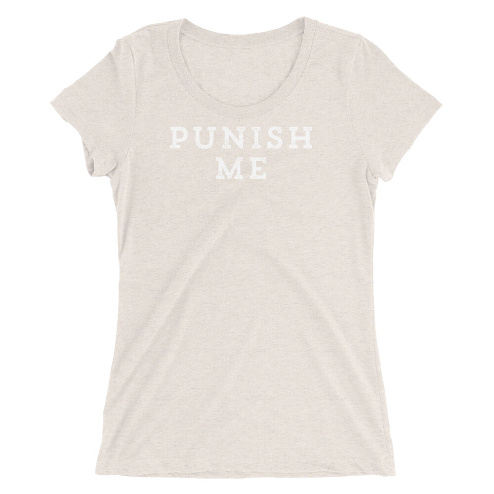 Punish Me Fun Domination BDSM Ladies' short sleeve t-shirt - Cuck and Bull Shop