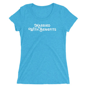 Married With Benefits Script Style Cuckolding Swinger Couples Ladies' short sleeve t-shirt - Cuck and Bull Shop
