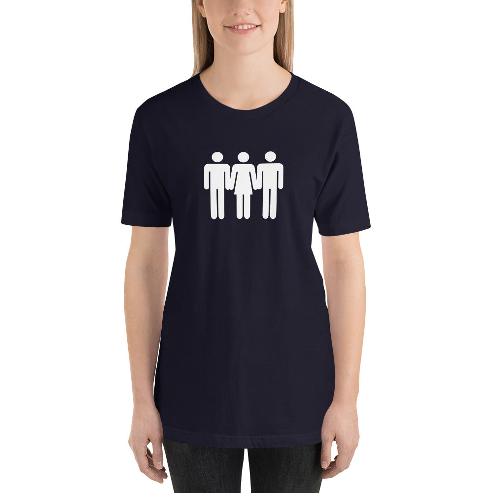 Threesome Cuckolding Graphic Short-Sleeve Unisex T-Shirt - Cuck and Bull Shop