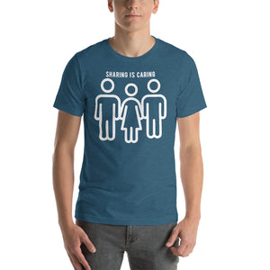 Sharing Is Caring Threesome Cuckolding Graphic Short-Sleeve Unisex T-Shirt - Cuck and Bull Shop
