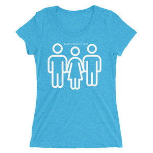 I Share Because I Care Threesome Graphic Cuckolding Ladies' short sleeve t-shirt - Cuck and Bull Shop