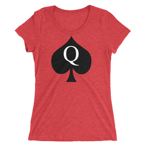 Queen of Spades Traditional Design Ladies' Short Sleeve Shirt - Cuck and Bull Shop