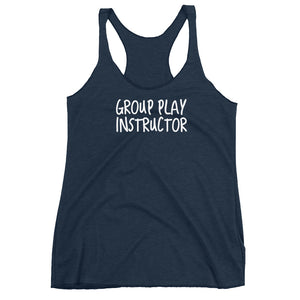 Group Play Instructor Cuckolding Couples Women's Racerback Tank - Cuck and Bull Shop