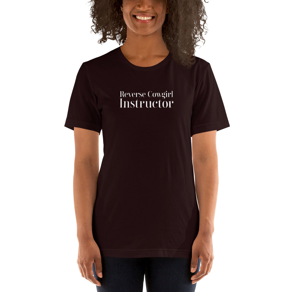 Reverse Cowgirl Instructor Short-Sleeve Unisex T-Shirt - Cuck and Bull Shop