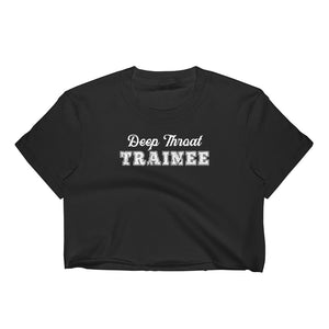Deep Throat Trainee Cuckolding Couples Womens Short Sleve Cropped Top Shirt