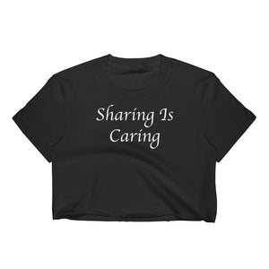 Sharing Is Caring Cuckolding Graphic Womens Short Sleve Cropped Top Shirt