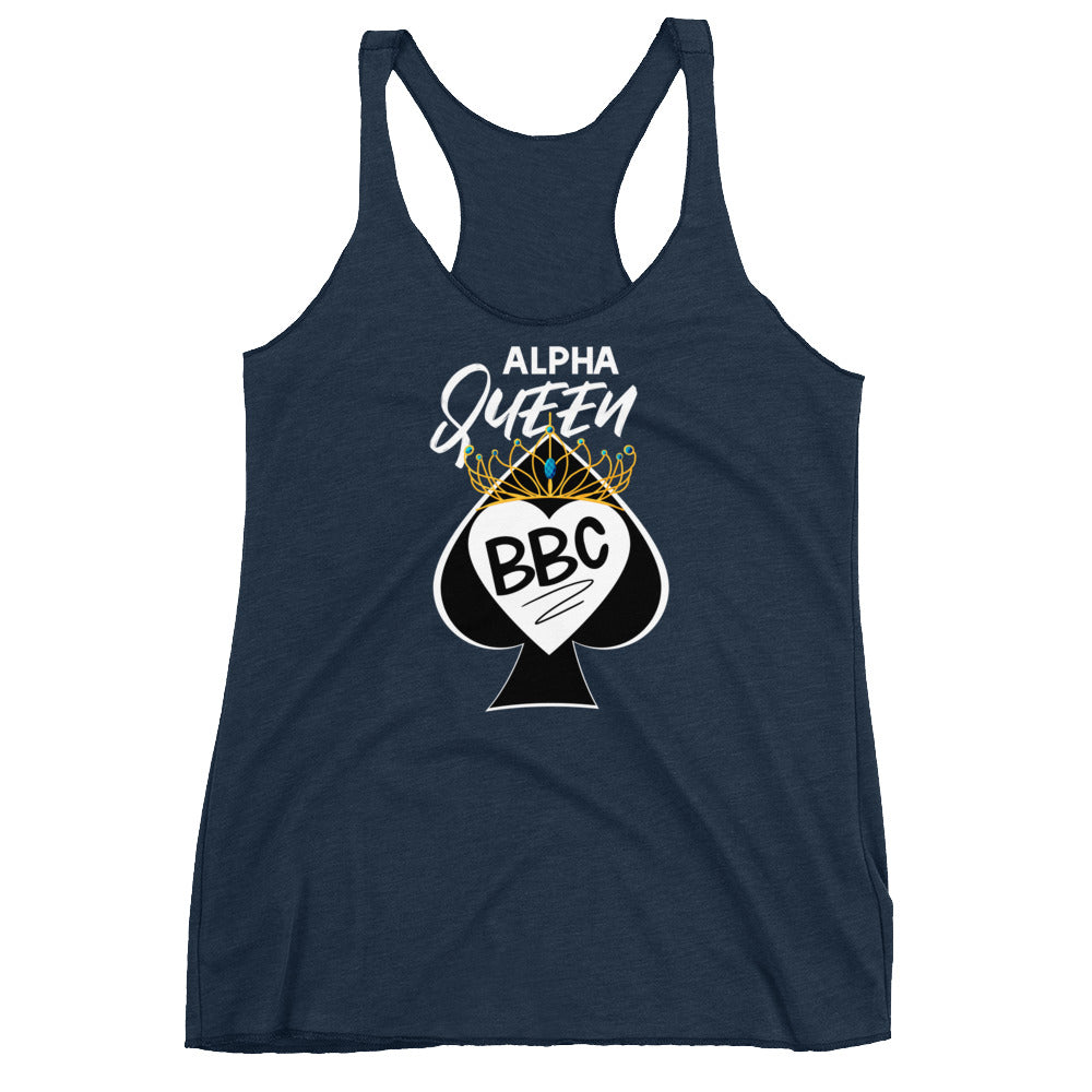 Alpha Queen of Spades I Love BBC Women's Racerback Tank