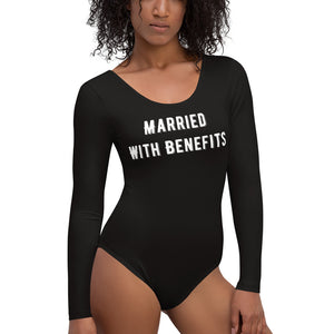 Married With Benefits Womens Long Sleeved Body Suit