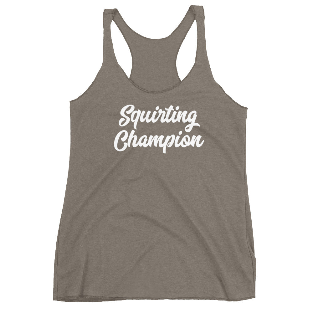 Squirting Champion Cuckolding Couples Womens Racerback Tank Top