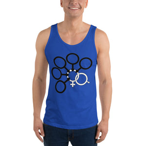 Interracial Cuckold Gang Bang Symbol Mens Tank Top - Cuck and Bull Shop