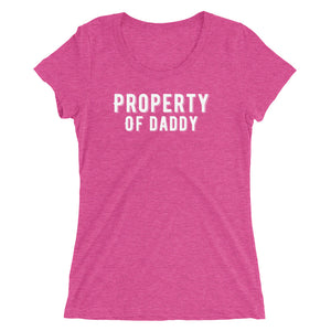 Property of Daddy BDLG Sugar Daddy Ladies' short sleeve t-shirt - Cuck and Bull Shop