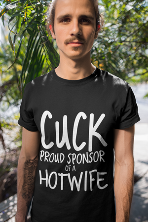 Cuck Proud Sponsor of a Hotwife Cuckolding Couples Short-Sleeve Unisex T-Shirt - Cuck and Bull Shop